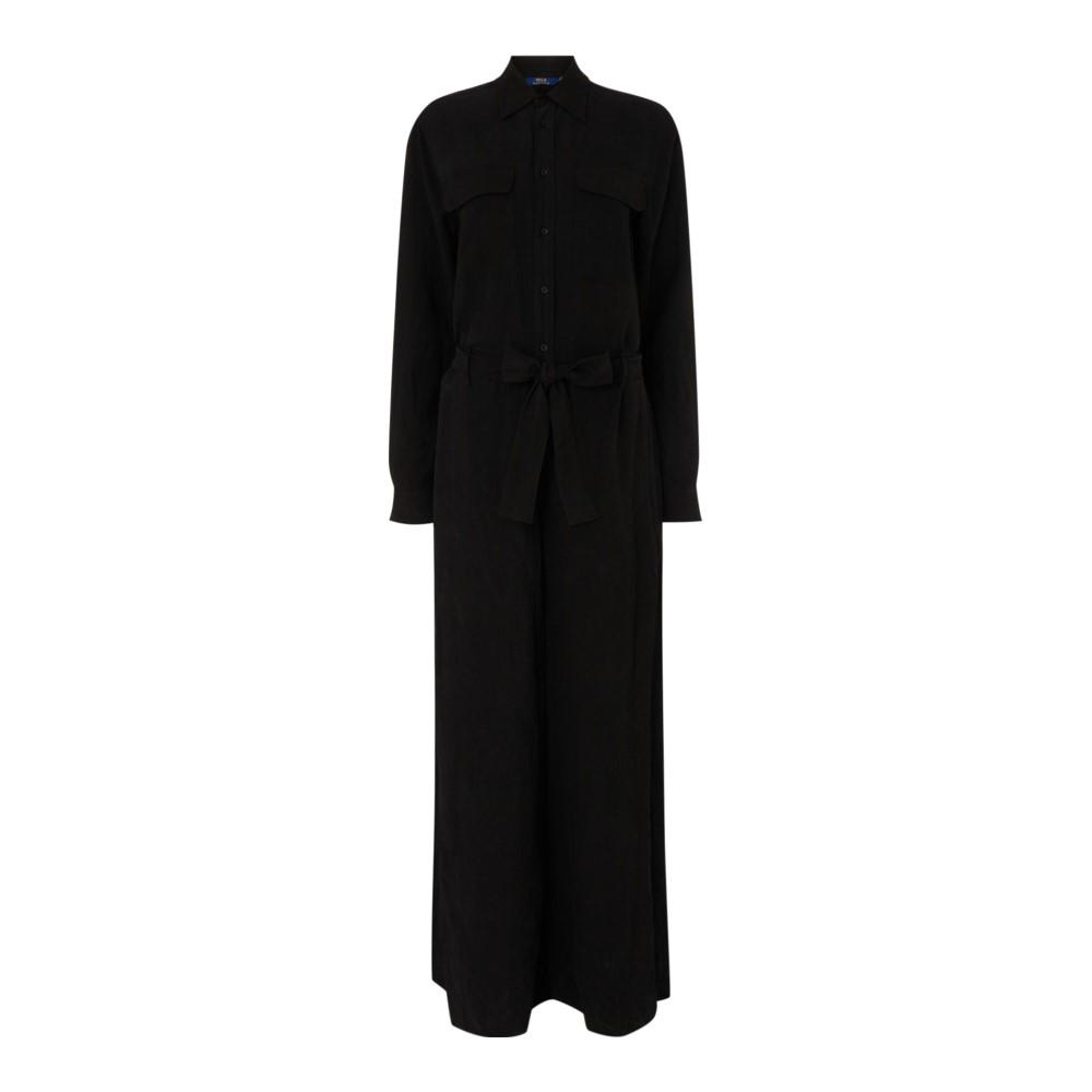 ラルフ ローレン レディース ワンピース・ドレス オールインワン【Dna Maxi Wide Leg Jumpsuit】black