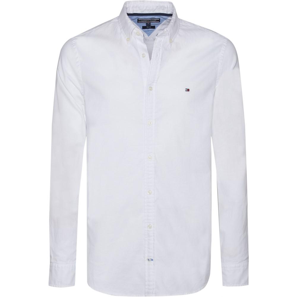 トミー ヒルフィガー メンズ トップス シャツ【Core Stretch Slim Fit Oxford Shirt】white