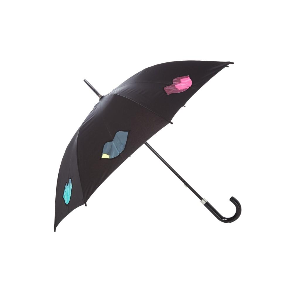 ルル ギネス レディース 傘【Lulu Rainbow Lips Umbrella】black