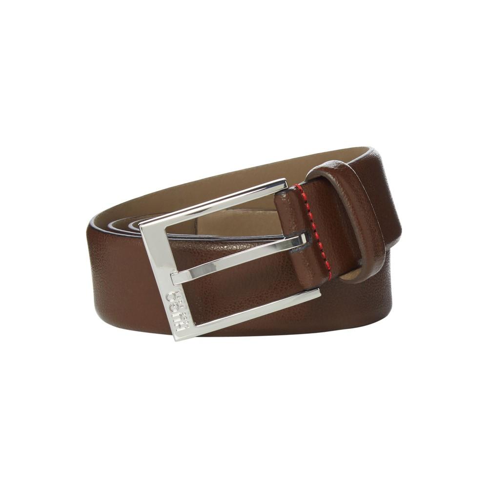 ヒューゴ ボス メンズ ベルト【Hugo Gellot Grainy Embossed Leather Belt】dark brown