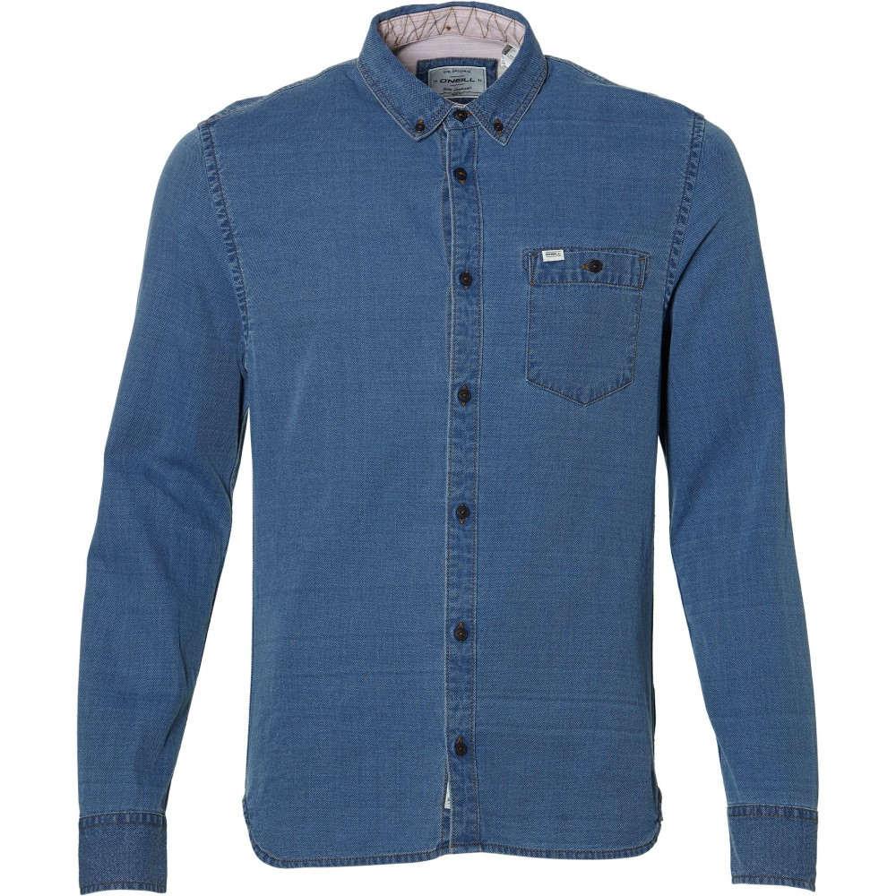 オニール メンズ トップス シャツ【Indigo L/slv Shirt】blue