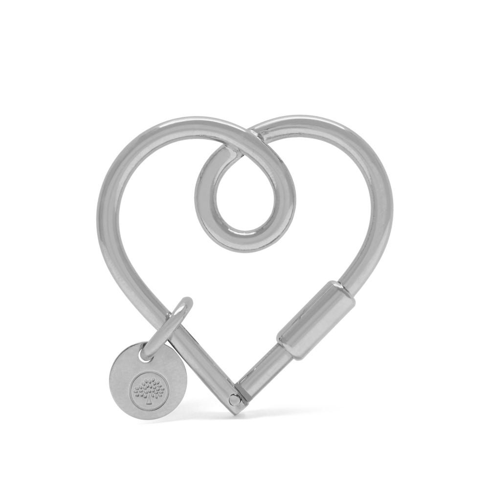 マルベリー レディース キーホルダー【Looped Heart Keyring】silver