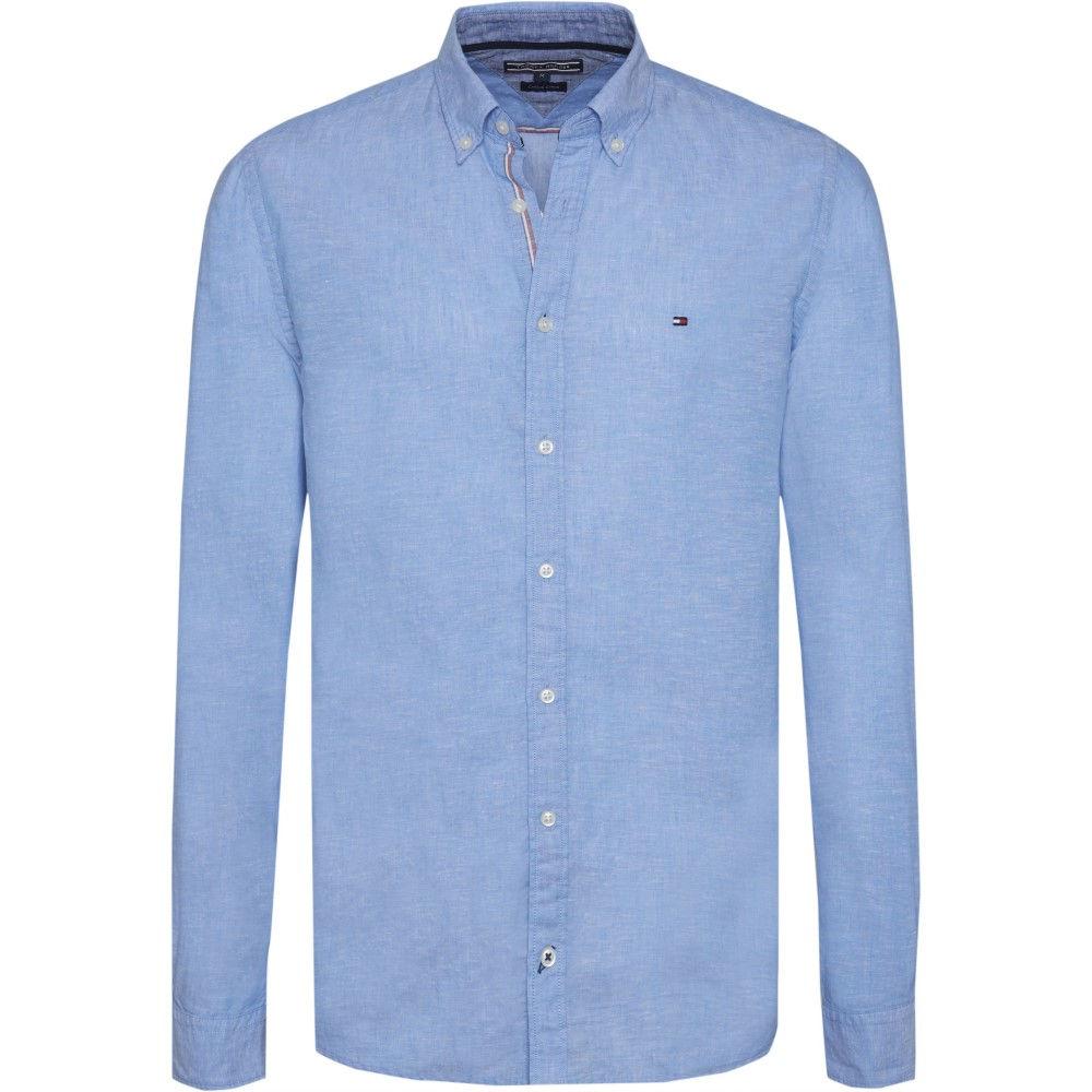 トミー ヒルフィガー メンズ トップス シャツ【Cotton Linen Shirt】blue multi
