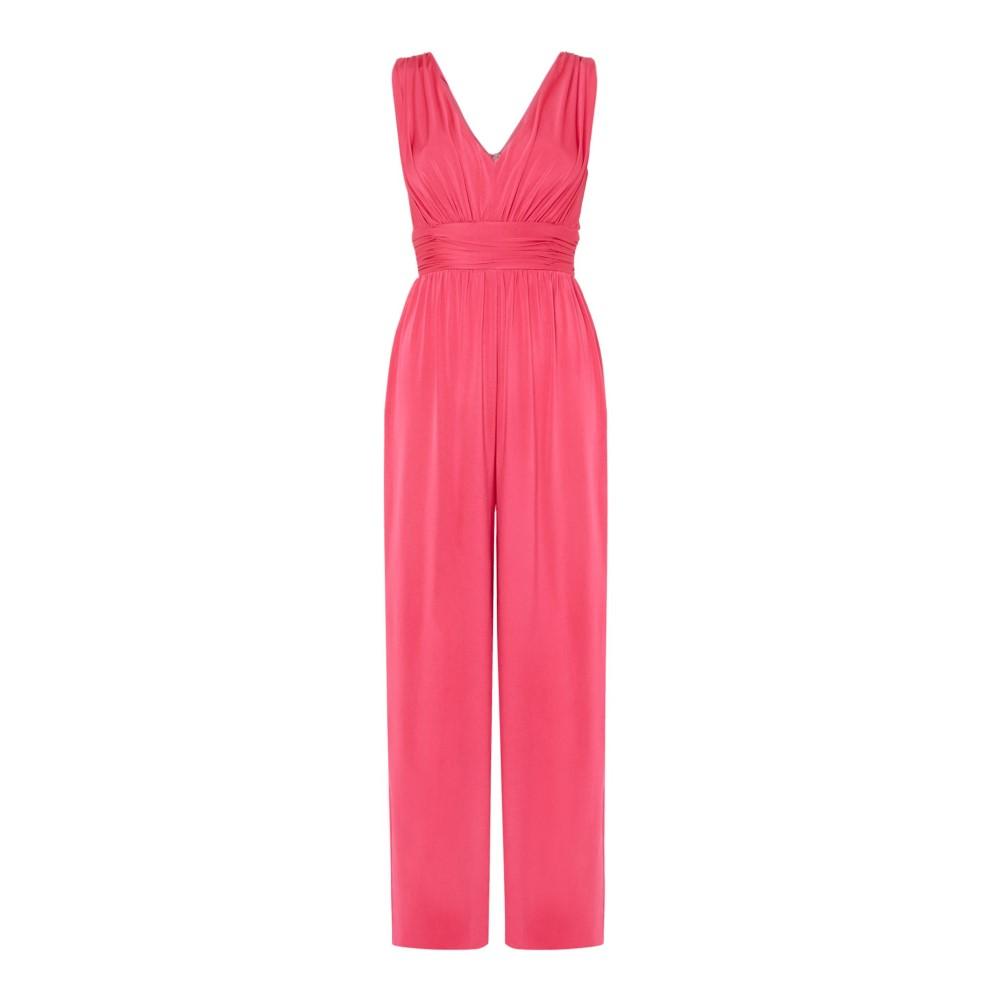 イッサ レディース ワンピース・ドレス オールインワン【Orelia Deep V Maxi Jumpsuit】pink
