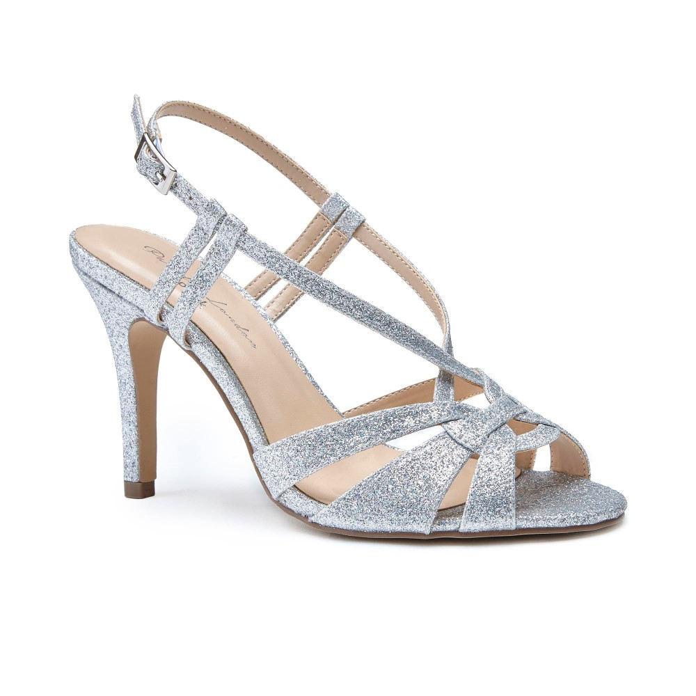 パラドックスロンドンピンク レディース シューズ・靴 サンダル・ミュール【Mandi Glitter Sandals】silver