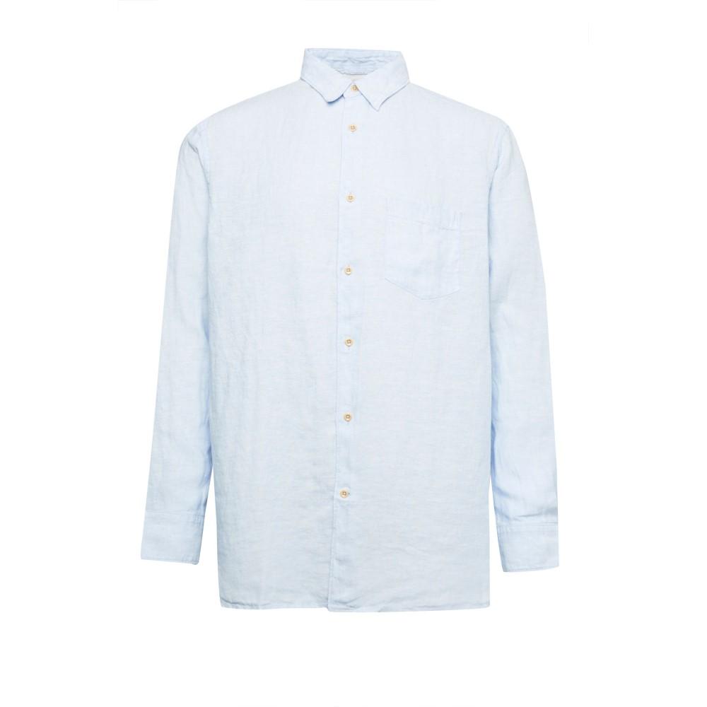 フレンチコネクション メンズ トップス シャツ【Linen Chambray Shirt】blue