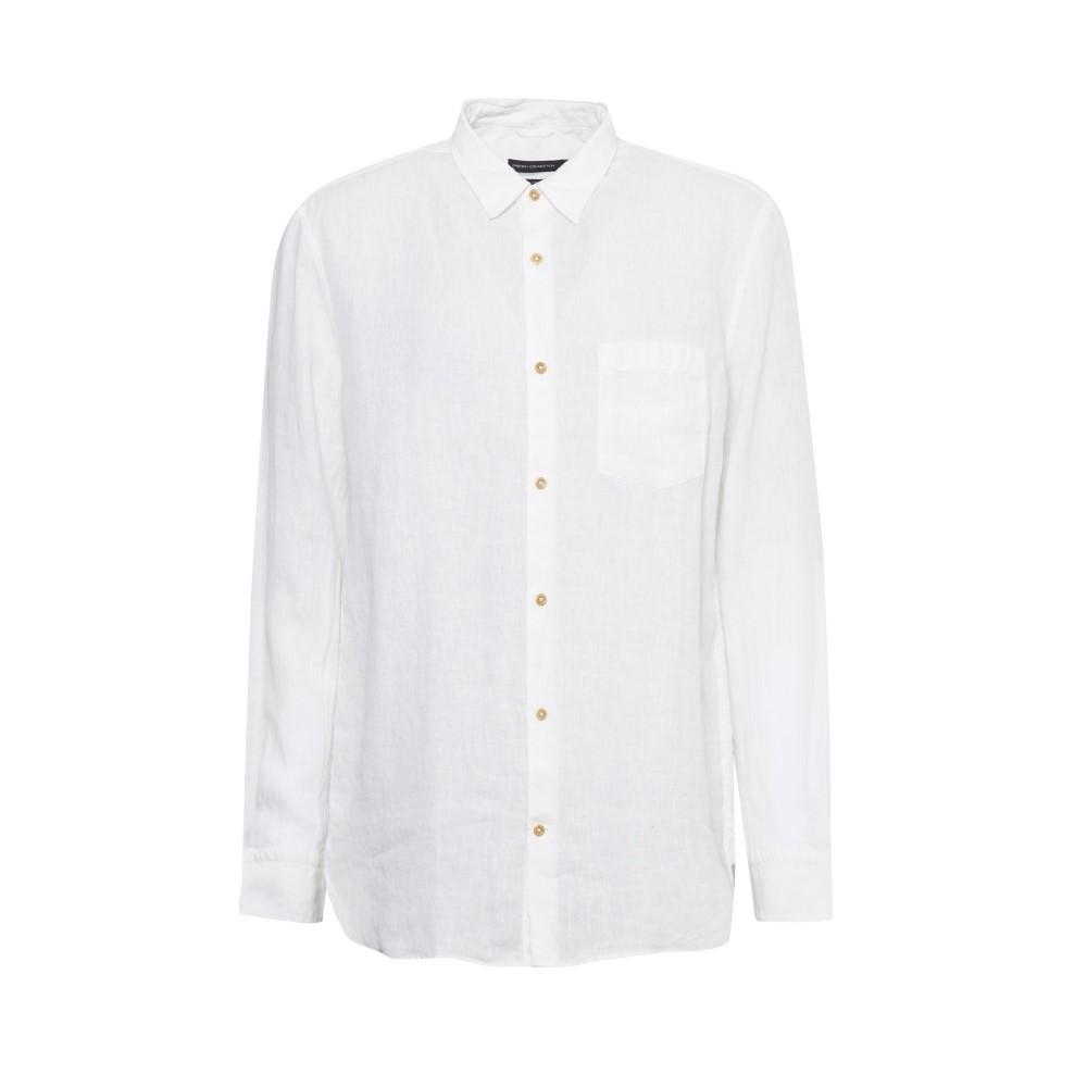 フレンチコネクション メンズ トップス シャツ【Linen Chambray Shirt】white