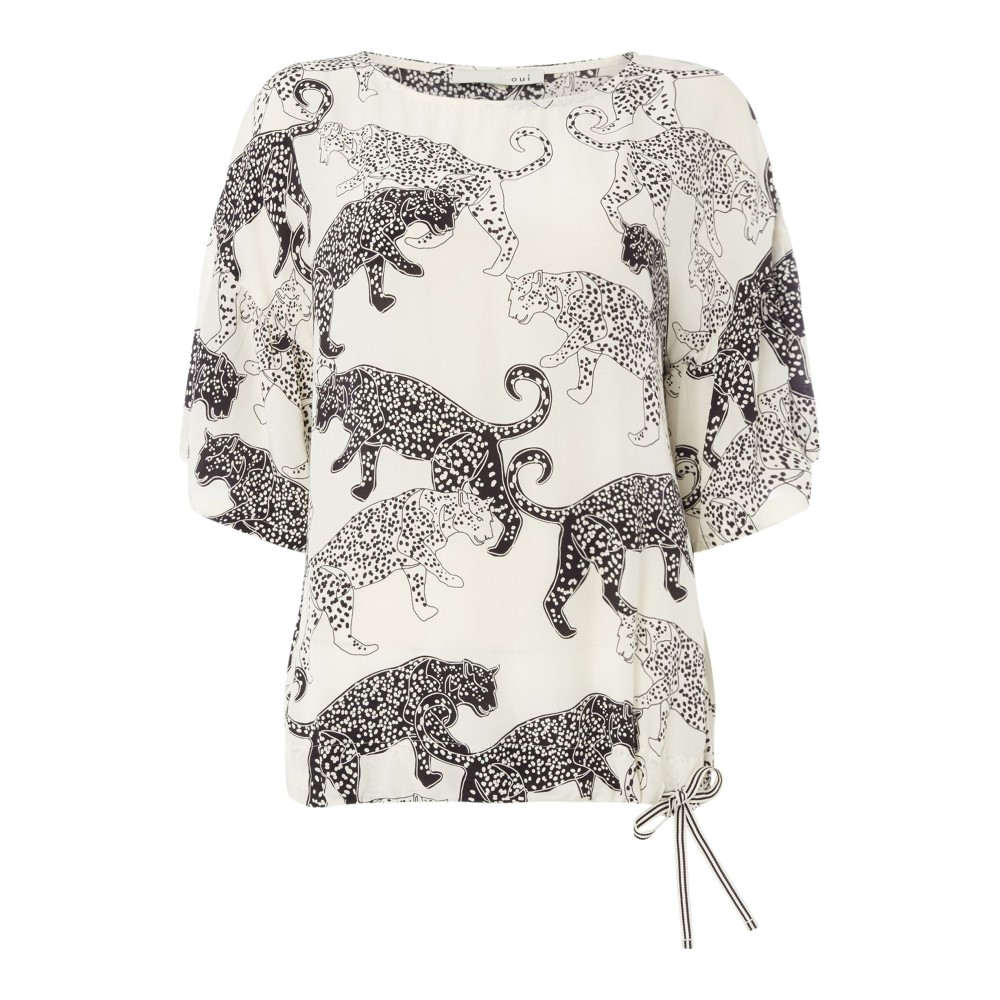 ウィ レディース トップス ブラウス・シャツ【Cheetah Print Blouse】white