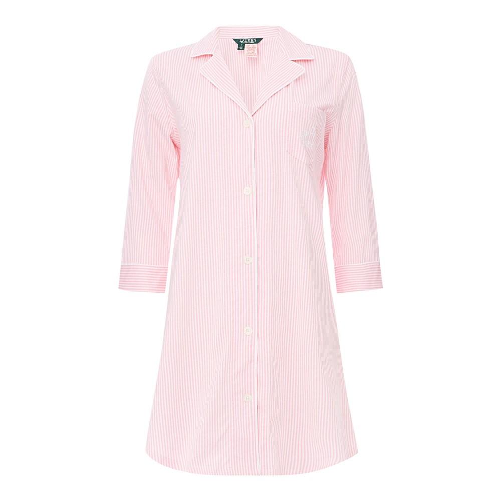 ラルフ ローレン レディース インナー・下着 パジャマ・トップのみ【3/4 Sleeve Classic Notch Collar Sleepshirt】pink