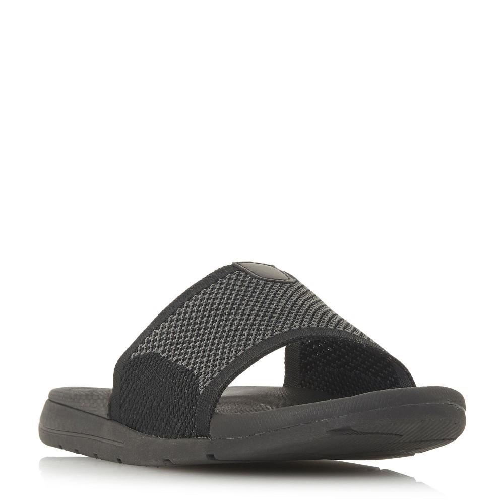 デューン メンズ シューズ・靴 サンダル【Hanks Knit Material Pool Slider Shoes】black