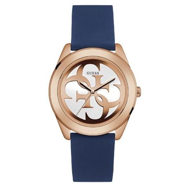 ゲス レディース 腕時計【W0911l6 Silicone Strap Watch】rose gold