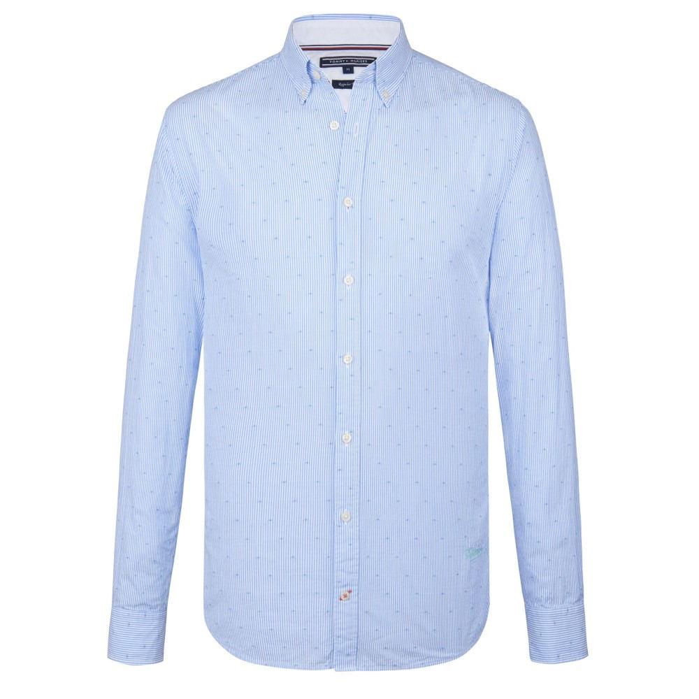 トミー ヒルフィガー メンズ トップス シャツ【Seersucker Coupe Shirt】light blue