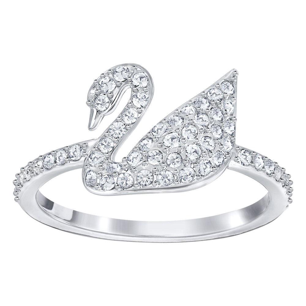 スワロフスキー レディース ジュエリー・アクセサリー 指輪・リング【Iconic Swan:ring Cry/rhs 55】silver