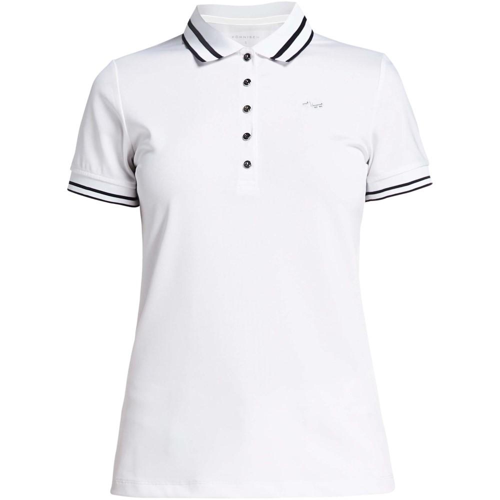 ローニッシュ レディース ゴルフ トップス【Pim Short Sleeved Polo】white
