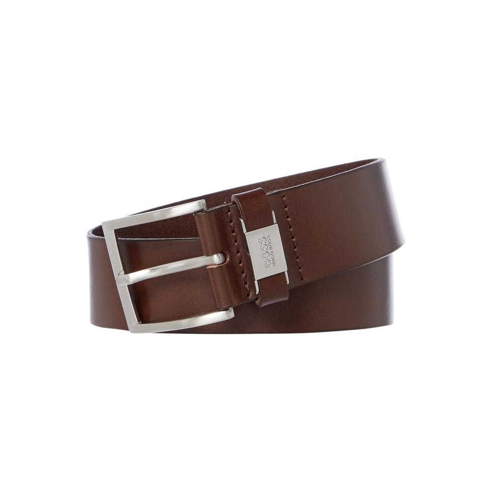 ヒューゴ ボス メンズ ベルト【Connio Leather Belt】dark brown