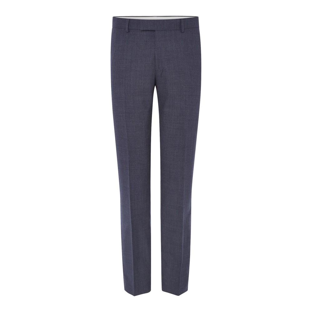 リチャード ジェームス メンズ ボトムス・パンツ スラックス【Melange Check Slim Suit Trouser】blue