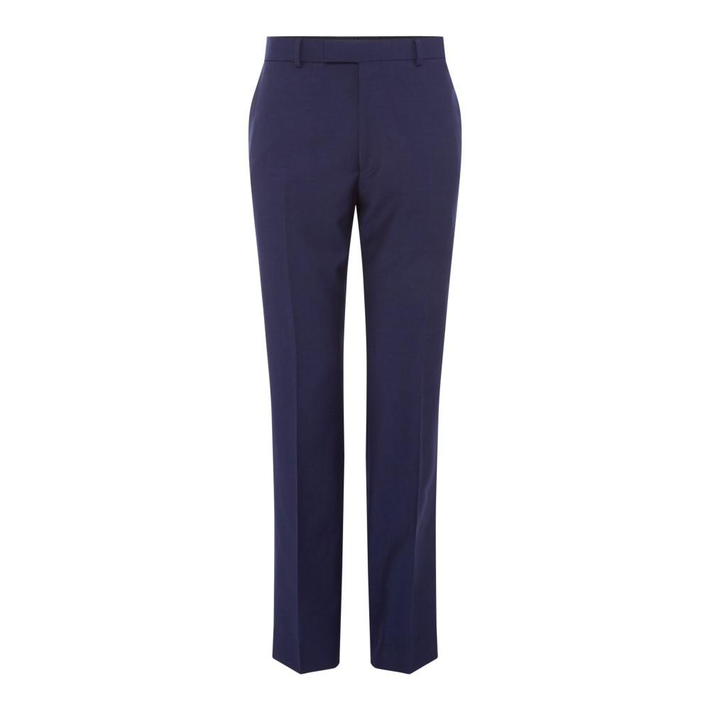 サイモン カーター メンズ ボトムス・パンツ スラックス【Mohair Hopsack Croker Suit Trousers】dark blue