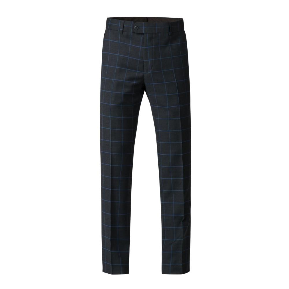 ギブソン メンズ ボトムス・パンツ スラックス【Navy Trousers With Blue Check】navy