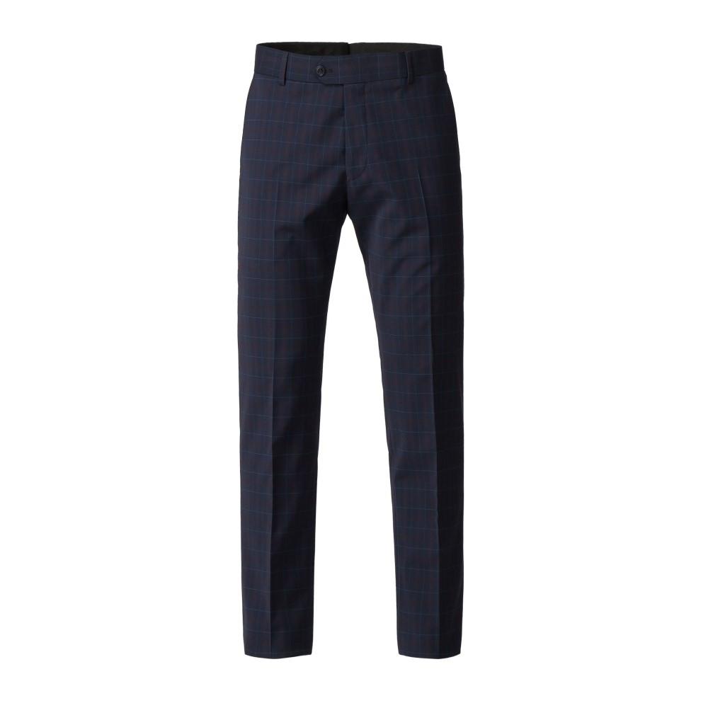 ギブソン メンズ ボトムス・パンツ スラックス【Navy Trousers With Soft Red Check】navy