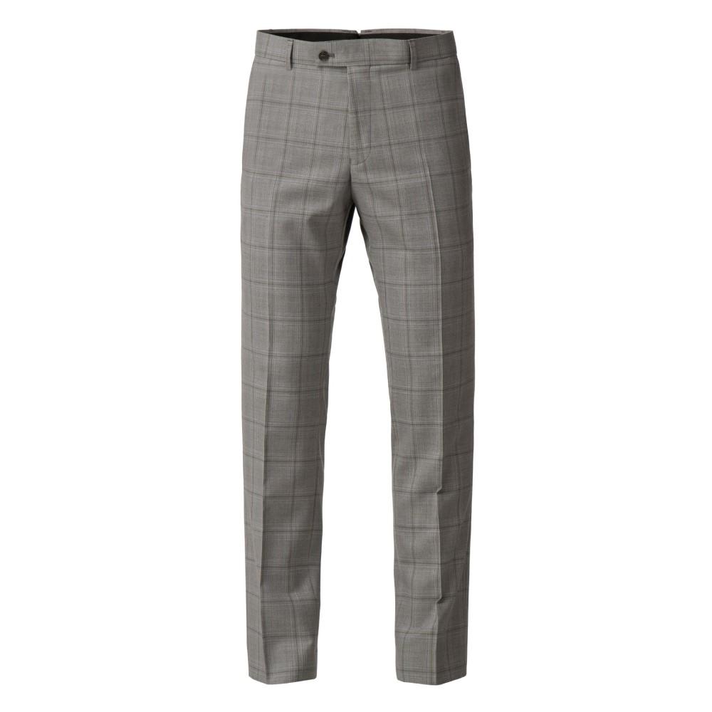 ベンシャーマン メンズ ボトムス・パンツ スラックス【Amias Grey Olive Check Suit Trouser】light grey