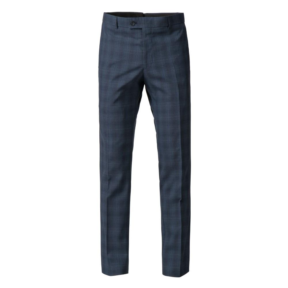 ベンシャーマン メンズ ボトムス・パンツ スラックス【Andoe Slim Fit Blue Check Suit Trouser】blue