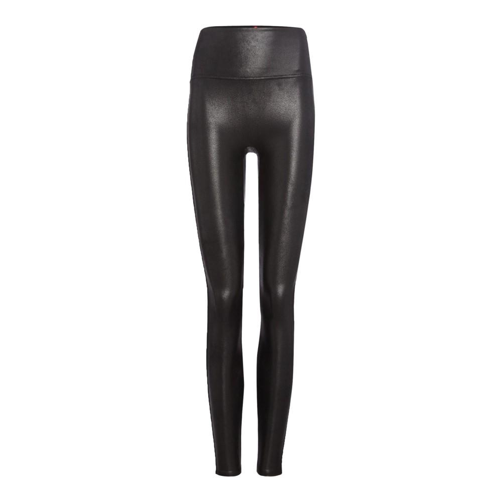 スパンクス レディース フィットネス・トレーニング ボトムス・パンツ【Faux Leather Leggings】black