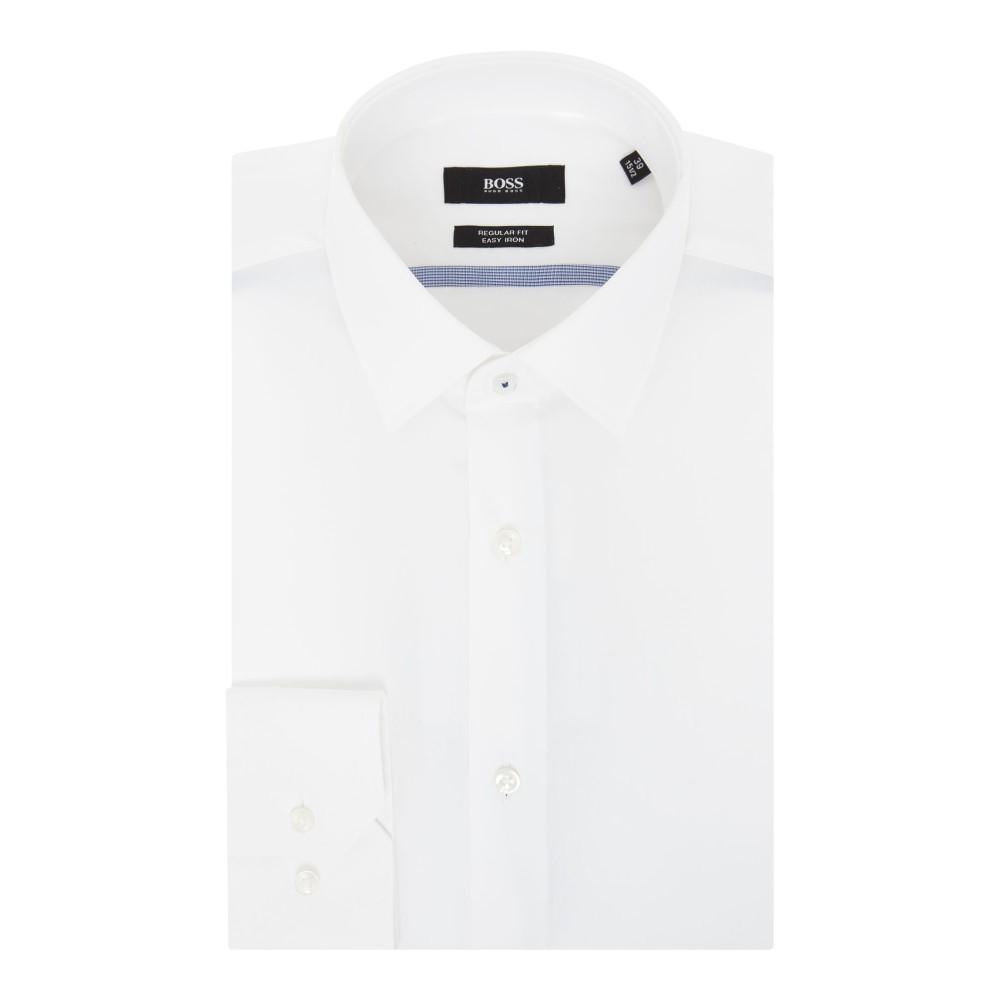 ヒューゴ ボス メンズ トップス シャツ【Poplin Contrast Trim Shirt】white
