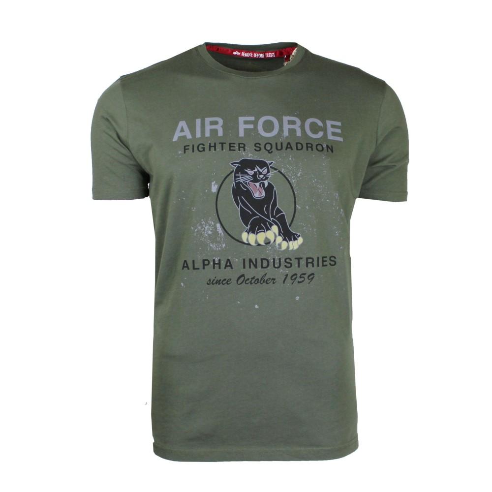 アルファ インダストリーズ メンズ トップス Tシャツ【Black Panther T-shirt】olive