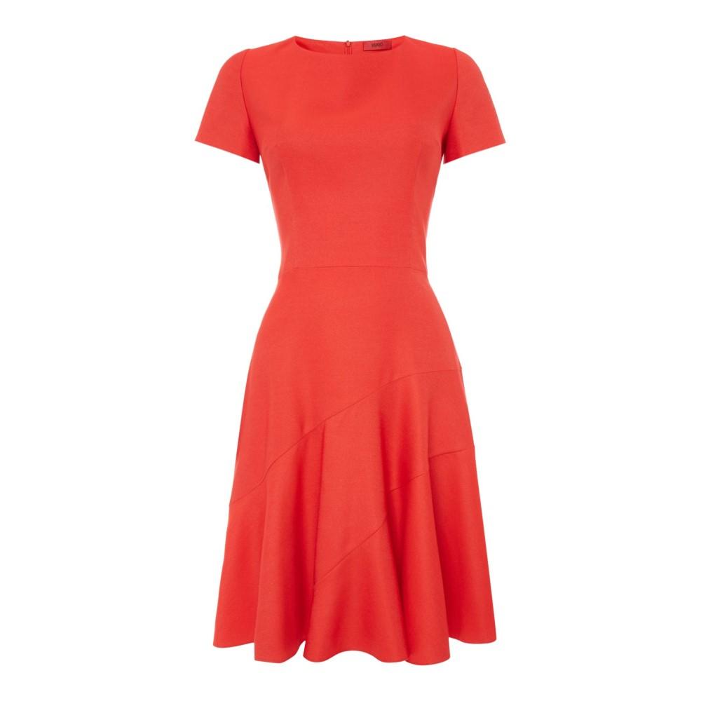 ヒューゴ ボス レディース ワンピース・ドレス ワンピース【Red Short Sleeve Dress】red