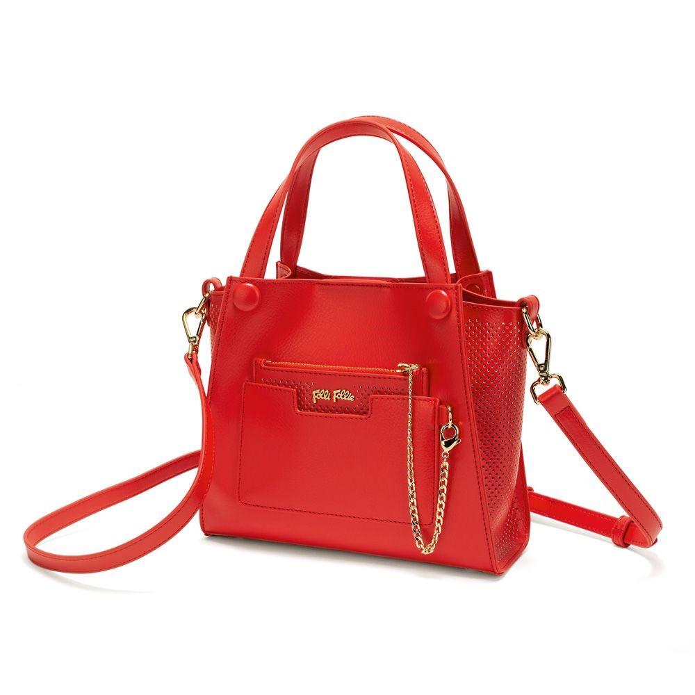 フォリフォリ レディース バッグ ショルダーバッグ【On The Go Mini Bag】red
