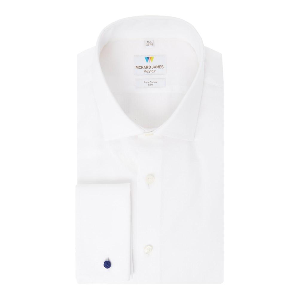 リチャード ジェームス メンズ トップス シャツ【Spot Jacquard Slim Fit Shirt】white