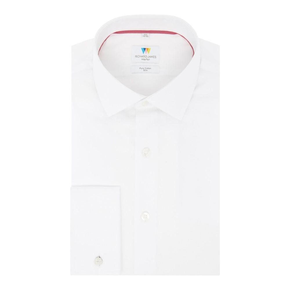 リチャード ジェームス メンズ トップス シャツ【Geometric Jacquard Slim Fit Shirt】white