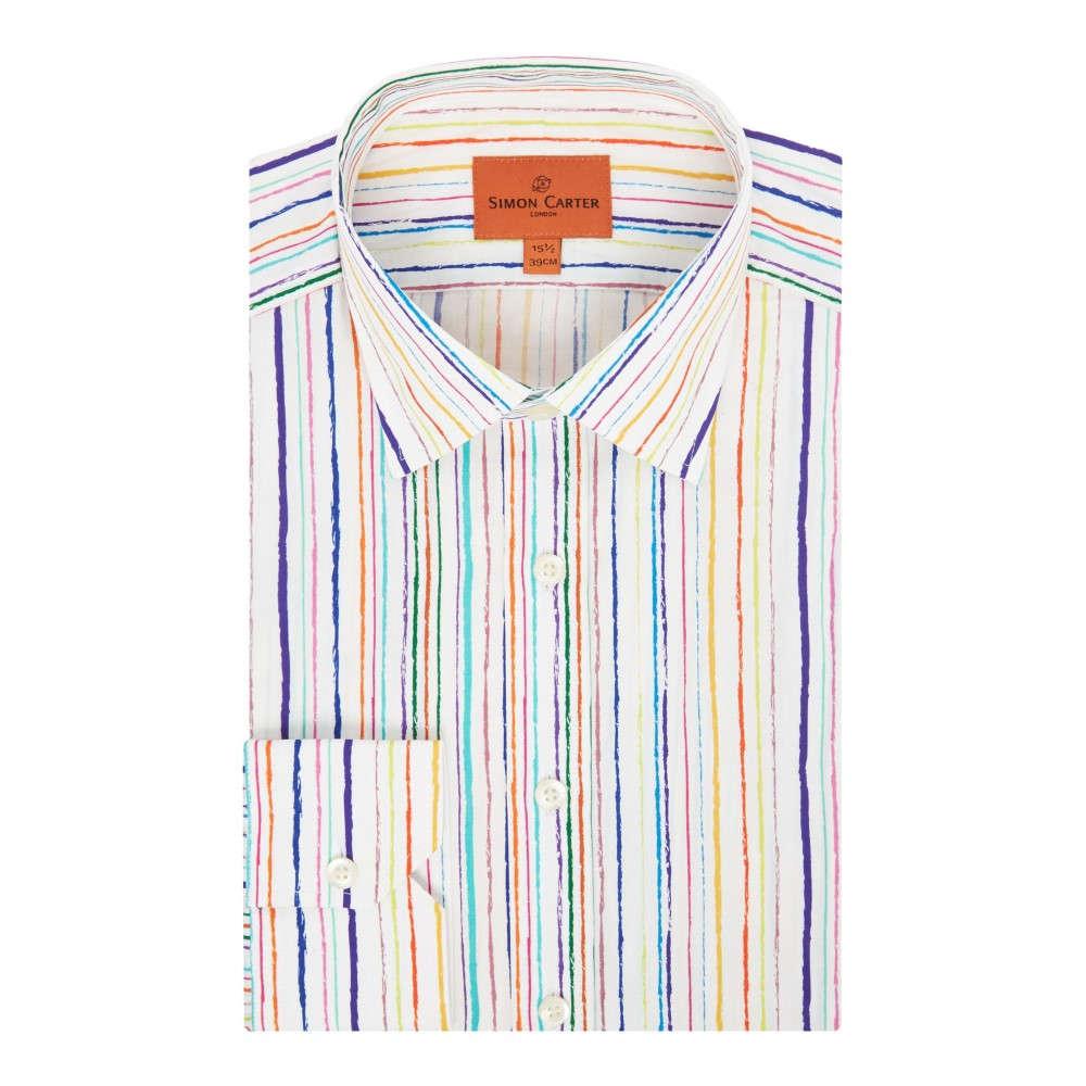 サイモン カーター メンズ トップス シャツ【Random Stripe Print Shirt】multi-coloured
