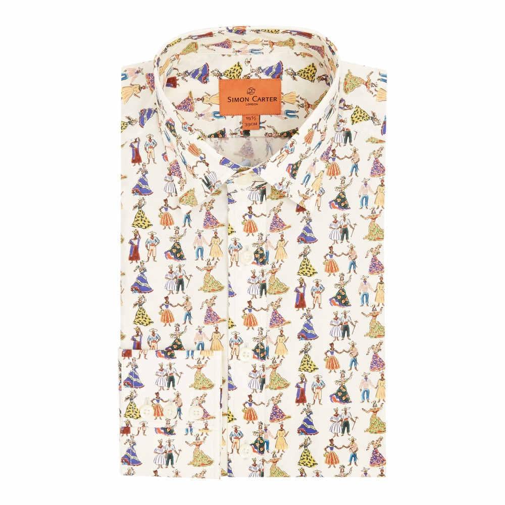 サイモン カーター メンズ トップス シャツ【Exclusive Liberty Carnival Print Shirt】multi-coloured