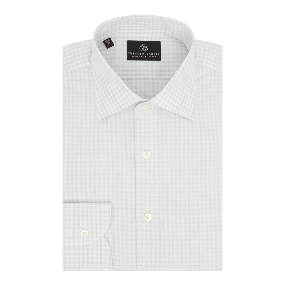 チェスター バリー メンズ トップス シャツ【Melange Check Shirt】grey