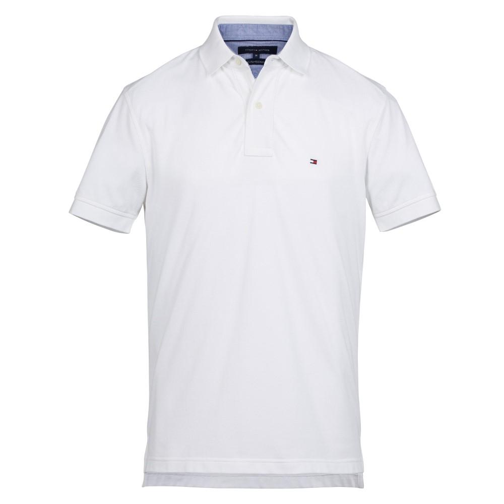 トミー ヒルフィガー メンズ トップス ポロシャツ【Core Hilfiger Slim Polo】white