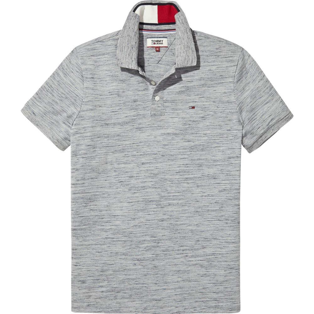 トミー ヒルフィガー メンズ トップス ポロシャツ【Tommy Jeans Slim Fit Polo Top】light grey