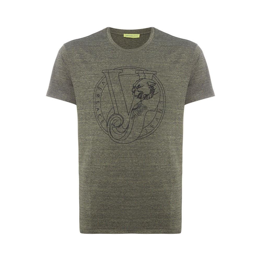 ヴェルサーチ メンズ トップス Tシャツ【Circle Print T-shirt】khaki