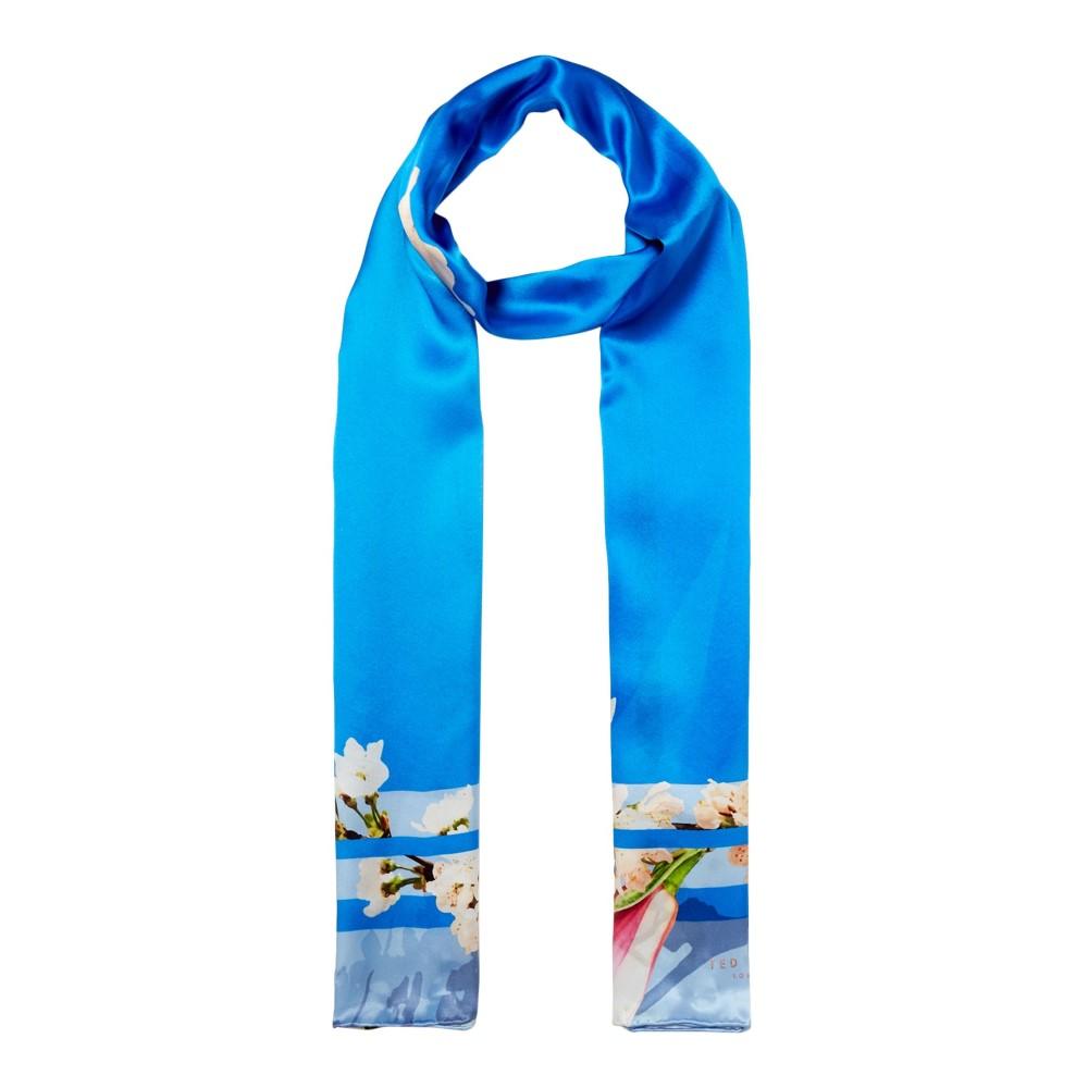 テッドベーカー レディース マフラー・スカーフ・ストール【Daisy Harmony Long Silk Scarf】bright blue