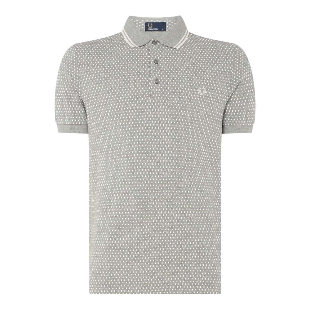 フレッドペリー メンズ トップス ポロシャツ【Geo Printed Polo Shirt】grey