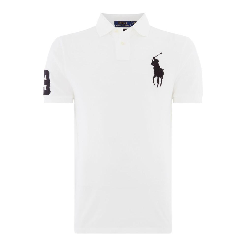 ラルフ ローレン メンズ トップス ポロシャツ【Custom Fit Polo Player Shirt】white