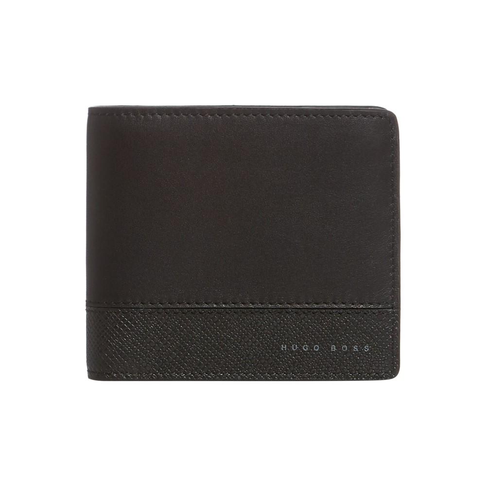ヒューゴ ボス メンズ カードケース・名刺入れ【Majestic Matt Leather Card Holder Billfold】black