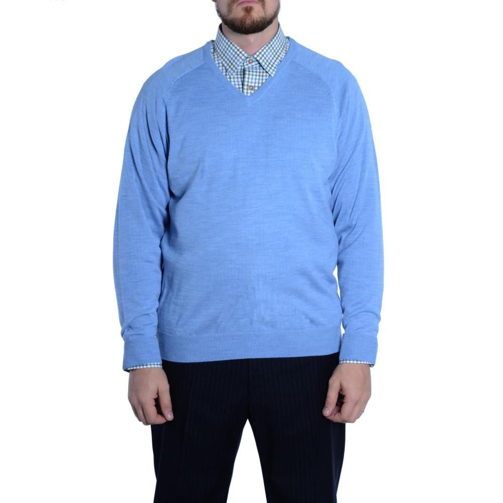 ダブルTWO メンズ トップス シャツ【Double Two Shirt & Jumper Set】blue