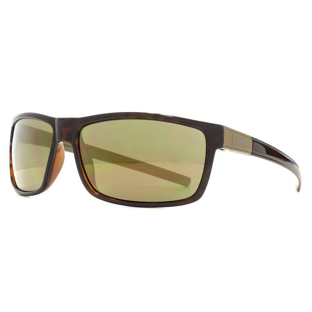 ファブリスレーン メンズ スポーツサングラス【Fcuk Sport Rectangle Wrap Plastic Sunglasses】frame colour: brown demi shiny