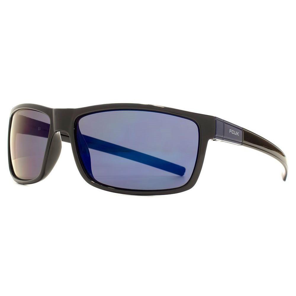 ファブリスレーン メンズ スポーツサングラス【Fcuk Sport Rectangle Wrap Plastic Sunglasses】frame colour: shiny black