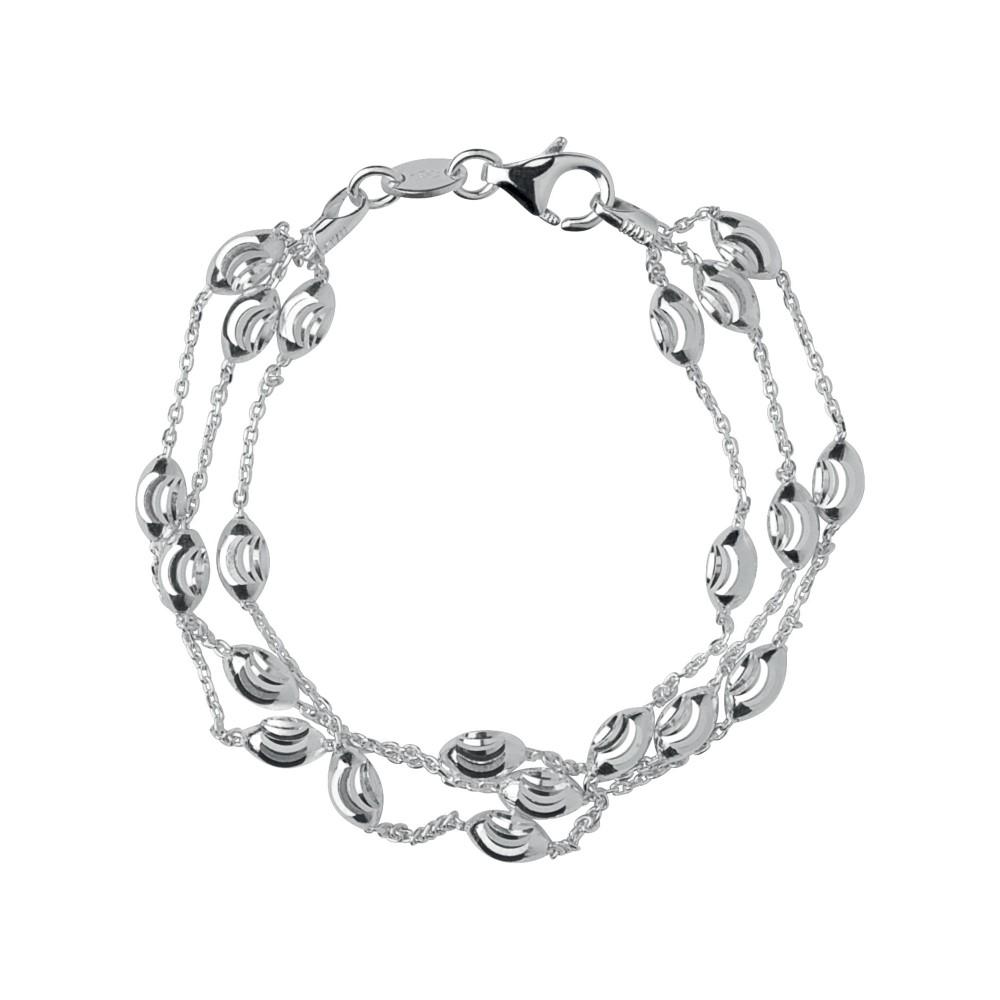 リンクス オブ ロンドン レディース ジュエリー・アクセサリー ブレスレット【Beaded Chain 3 Row Bracelet-l】silver
