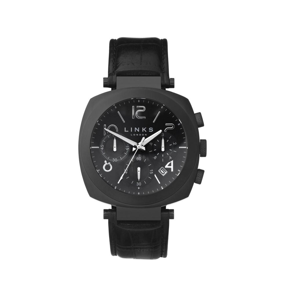 リンクス オブ ロンドン メンズ 腕時計【Brompton Black Dial Chronograph Watch】black