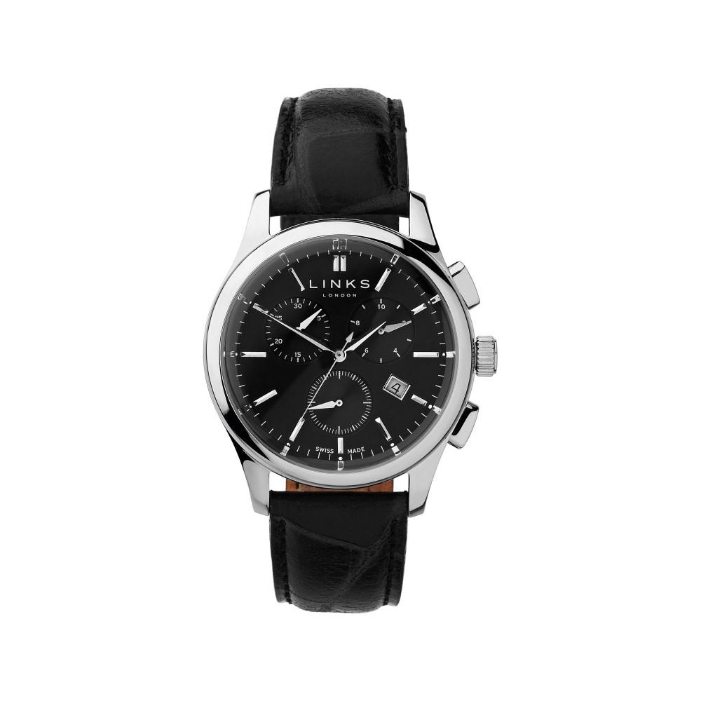 リンクス オブ ロンドン メンズ 腕時計【Regent Black Dial Chronograph Watch】