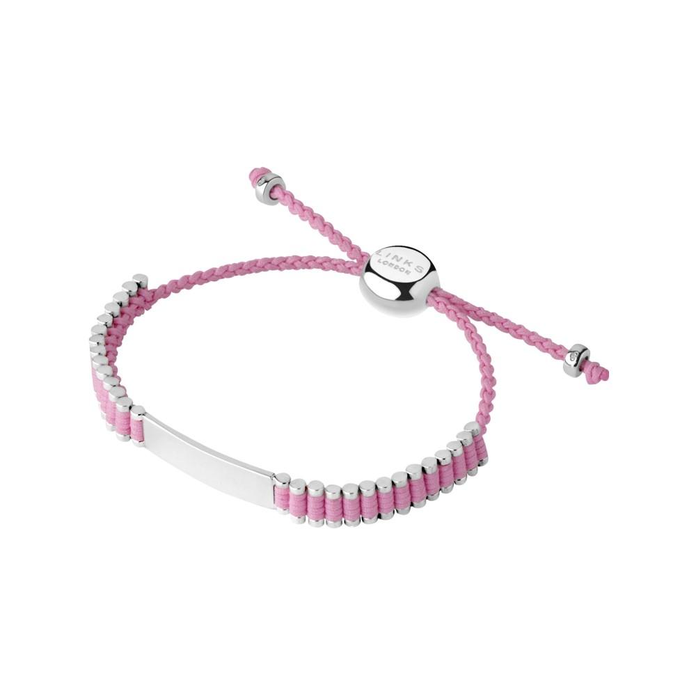 リンクス オブ ロンドン レディース ジュエリー・アクセサリー ブレスレット【Sterling Silver & Pink Cord Baby Friendship Id Br】pink