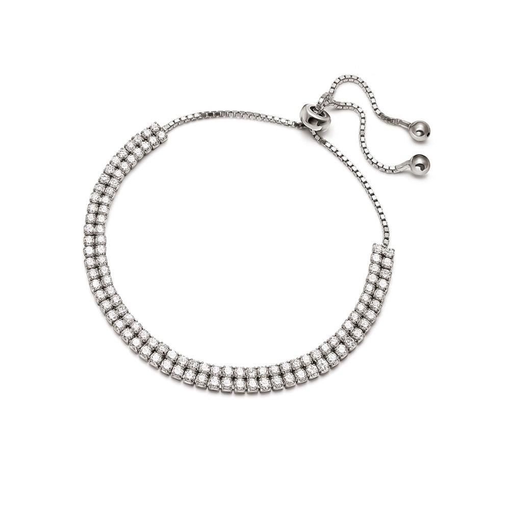 フォリフォリ レディース ジュエリー・アクセサリー ブレスレット【Fashionably Silver Double Sparkle Ball Bracelet】